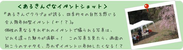 フォトアルバム<あるきんぐなイベントショット>